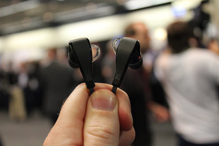 Plantronics BackBeat GO 2 earbuds hands and ears-on