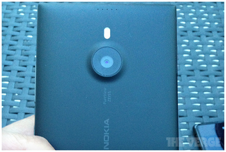 Nokia's 6-inch Lumia 1520 shown towering over a Sony Xperia