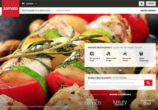 Website of the day: Zomato