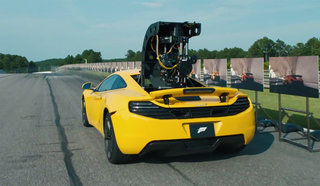 Forza Motorsport 5 FilmSpeed promo turns a McLaren 12C supercar into the world's coolest zoetrope