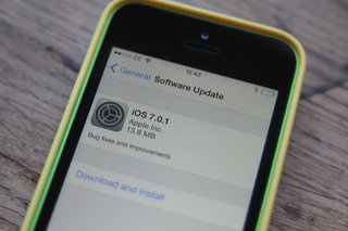 Just updated to iOS 7? Good now you can upgrade to iOS 7.0.1