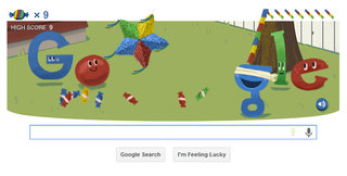 Google celebrates 15th birthday with pinata game doodle as Hummingbird algorithm change rolled out