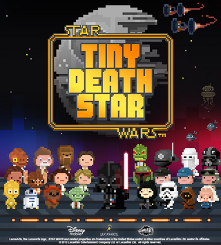 star wars themed tiny death star mobile game teased disney mobile and nimblebit team up for 8 bit title image 2