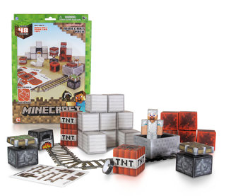 Minecraft toy collection pictured: Action figures, plush toys and paper craft projects on the way