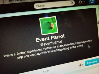 Twitter Event Parrot lets you keep up with global breaking news