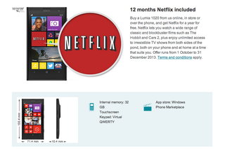 Buy a Windows Phone device from Vodafone and get Netflix free this Christmas