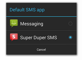 android 4 4 kitkat will allow third party messaging apps to act as default image 2
