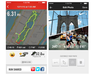 nike running for ios updated with photo capabilities to capture running moments image 2