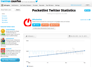 Website of the day: Twitter Counter