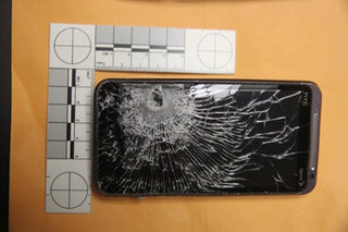 HTC EVO 3D stops bullet and saves man's life