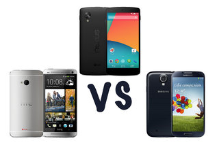 Google Nexus 5 vs HTC One vs Samsung Galaxy S4: What's the difference?