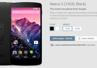 Google Play running out of Nexus 5 stock fast