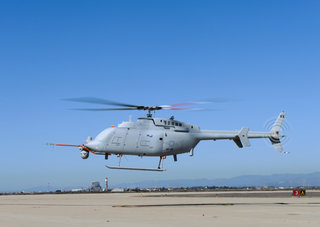 First unmanned helicopter, MQ-8C Fire Scout, takes to the skies