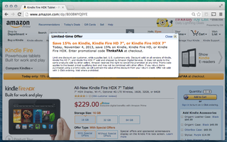 Kindle line goes on sale in US: Amazon celebrates FAA's electronics policy with discount