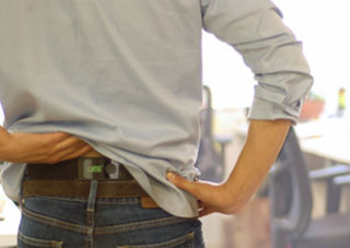 Lumoback will correct your sitting posture and stop back pain using smart sensors and vibrations
