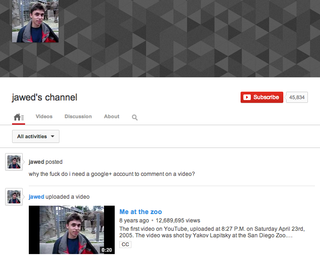 youtube co founder not a fan of google comments on youtube image 2