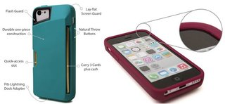 slite card case for iphone 5c keeps your phone and credit cards safe image 2
