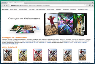 Amazon 'Create Your Own' accessory service using photos launches for Kindle line