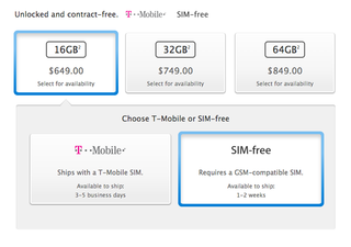 Apple's US site now offers unlocked, SIM-free iPhone 5S
