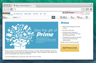 Amazon now lets you gift Amazon Prime two-day shipping service