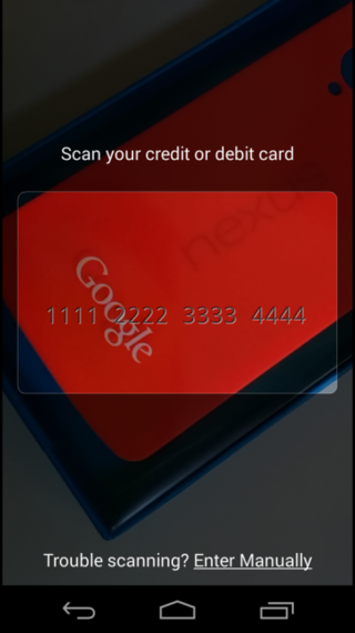 say cheese add credit and debit cards to google wallet for android by snapping a pic image 2