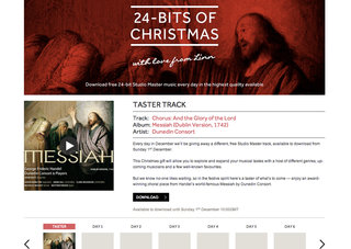 Download a free 24-bit lossless audio track every day up to Christmas