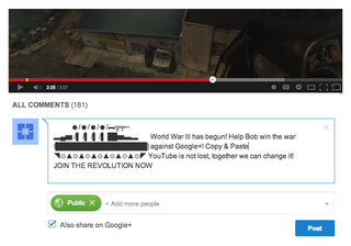 YouTube admits Google+ comments are riddled with spam