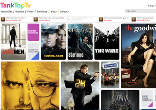 Tank Top TV lets you find where to stream or download box sets, instantly