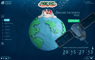 NORAD Santa Tracker back for 2013 and dramatically improved thanks to IE11