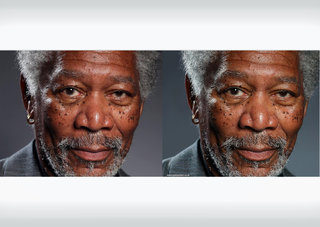 Artist draws realistic Morgan Freeman in 4K using iPad and Procreate app
