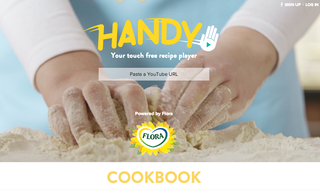 Handy by Flora video player lets you watch and follow recipes hands-free