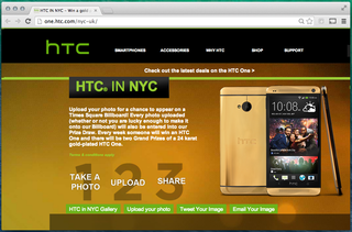 You could win a 24k gold HTC One - just upload a photo for NYC billboard