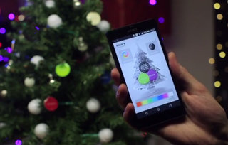Sony NFC Christmas tree lets you change the lights using your smartphone