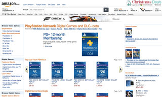 PSN storefront opens up shop on Amazon UK