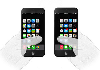 OptUX would give one-handed controls to larger screened iPhone 5S