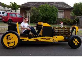 Life-sized Lego car is powered by air and hits 20mph