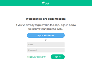 Vine web profiles are coming, grab your custom URL now