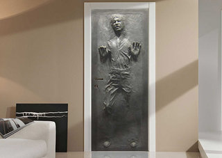 Get a carbonite Han Solo decal on your door