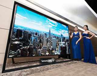 Samsung shows off the world's largest 110-inch Ultra HD TV due to go on sale on  Monday