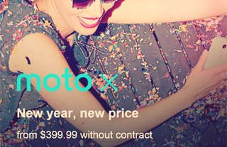 Motorola's unlocked Moto X gets cheaper $399 price tag in US for new year
