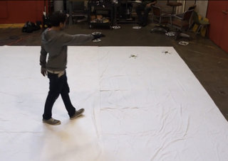 Gesture controlled quadrotor swarm is smart enough to avoid pesky humans