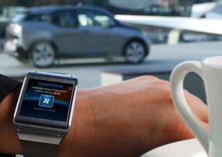 Samsung Galaxy Gear can control the BMW i3