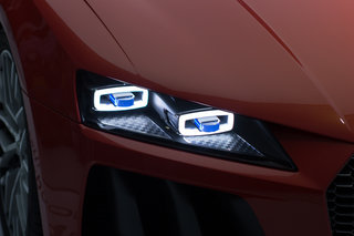 audi unveils stylish laser headlights at ces will come to production cars image 2