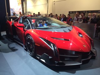 Hands-on: Lamborghini Veneno Roadster turns up at CES with $50k Monster speaker makeover