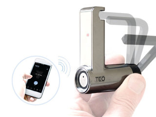 Teo keyless smart padlock uses Bluetooth so you can send virtual keys to others