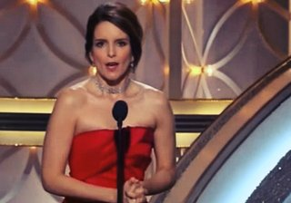 Watch Golden Globes host Tina Fey make fun of Michael Bay's CES gaffe