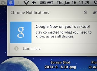 Google Now desktop integration lands for Chrome browser Canary build