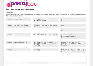Know your web code? Take the Prezzy Box challenge and win a new job