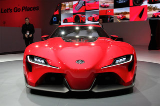 toyota ft 1 gran turismo 6 concept car makes real word appearance at detroit show image 2