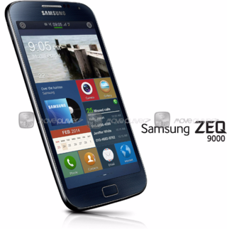 samsung s first tizen smartphone shown off in leaked photo revealing 4 8 inch hd display image 2